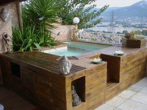 mini piscine bois vercors